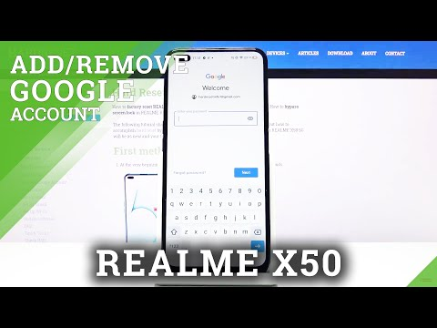 How to Add and Remove Google Account in REALME X50 5G – Manage Google Account