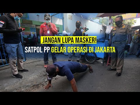 Satpol PP Razia Penggunaan Masker di Jakarta