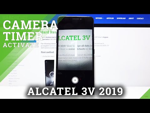 How to Set Camera Timer in ALCATEL 3V 2019 – Find Countdown Options