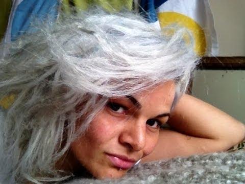 bleach damage white platinum blonde from dark hair youtube