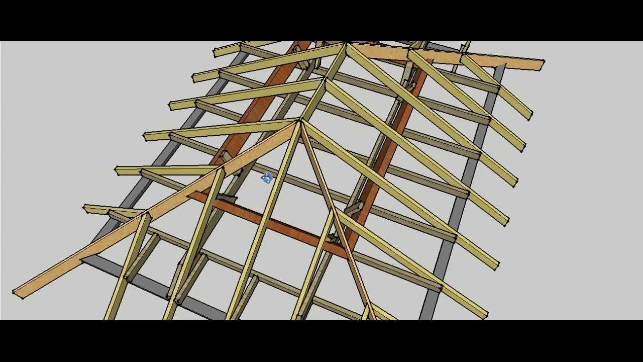 Hip Roof Erection Procedure YouTube