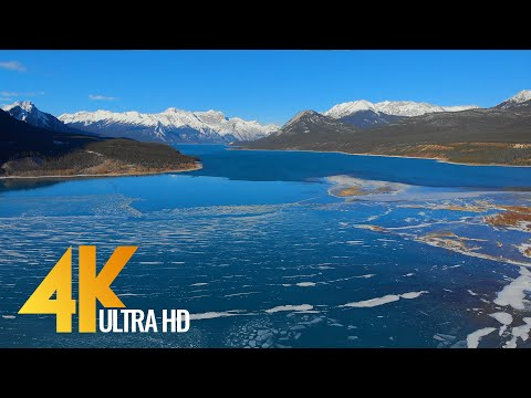 Bird's Eye View of CANADA in 4K - Incredible Wintertime - Aerial Film with Ambient  Music