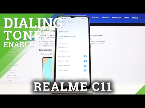 How to Turn Off Dial Pad Sounds in REALME C11 - Dialer Options