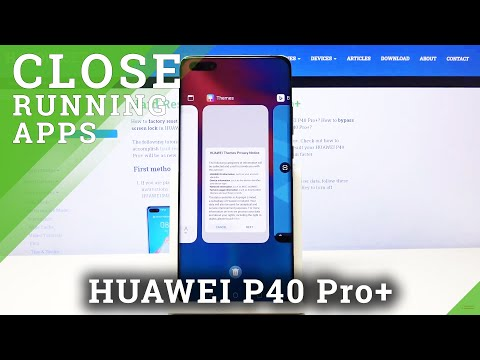 How to Disable Running Apps in HUAWEI P40 PRO+ - Turn Off Background Apps