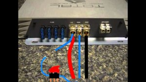 how to install a switch to a car amp  YouTube