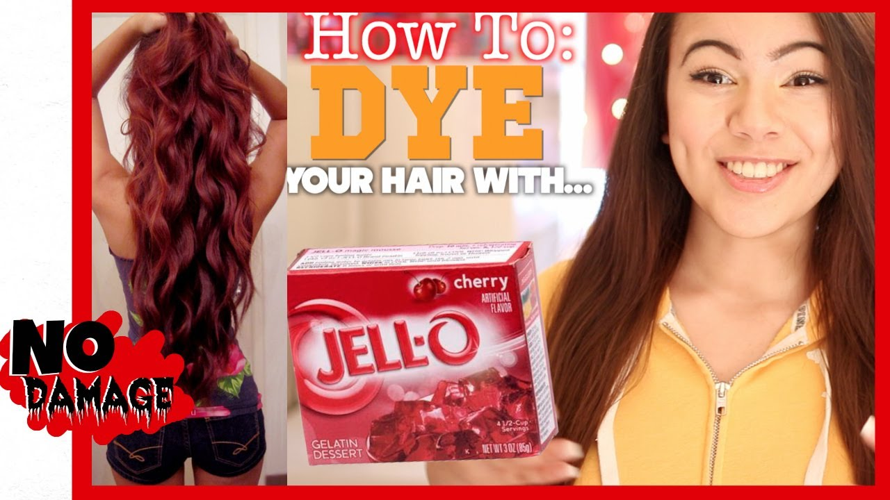 How To Dye Your Hair With Jell O YouTube
