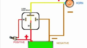HORN RELAY simple wiring  YouTube