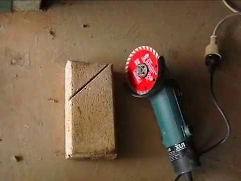 How To Measure And Cut Paver With Angle Grinder Youtube