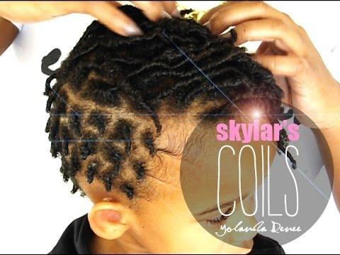 natural hair skylar s finger coils b coils youtube
