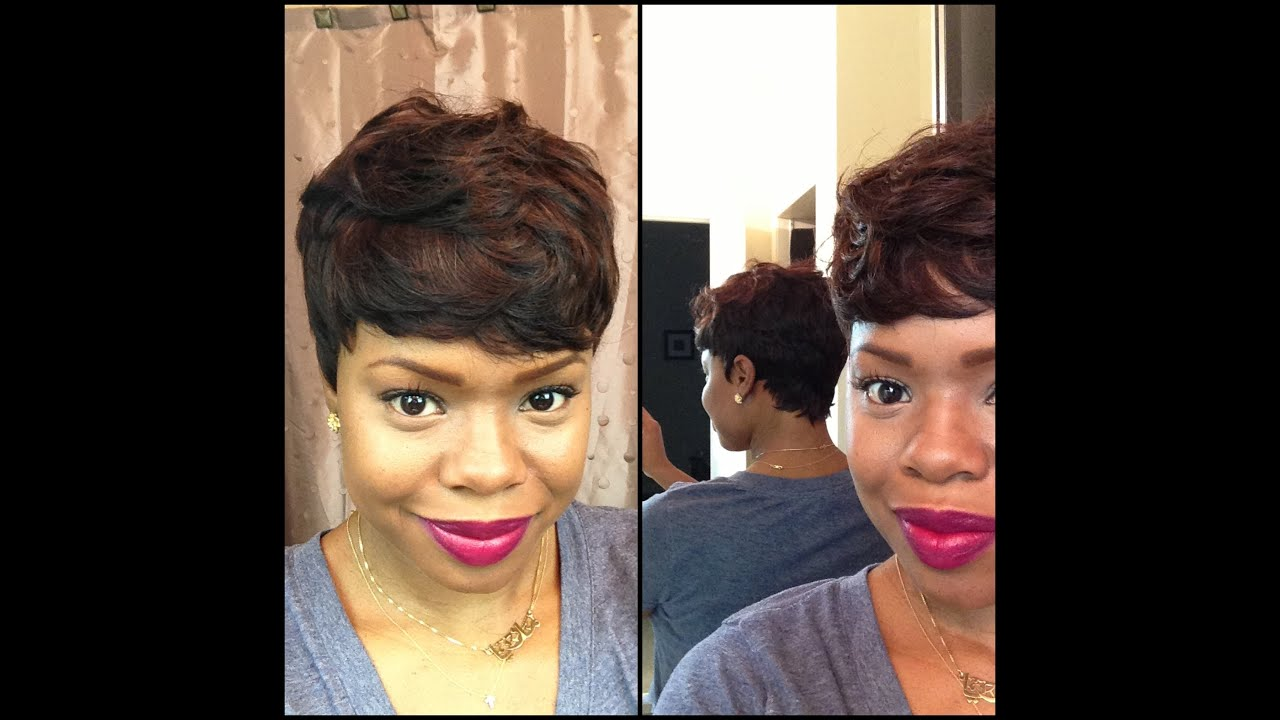 Short And Sassy Custom 27 Piece Wig YouTube