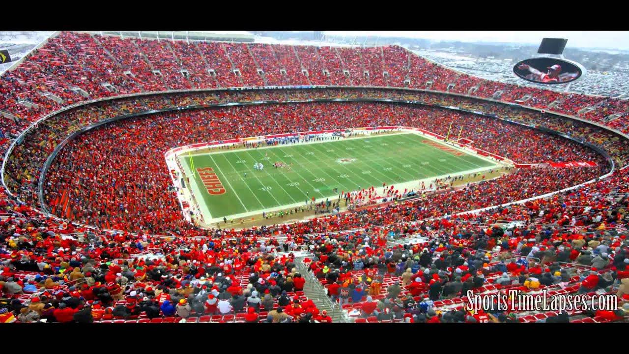 NFL Time Lapse Arrowhead Stadium 2 Views YouTube