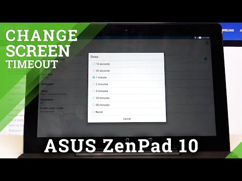 How to Set Screen Timeout in ASUS ZenPad 10 – Choose Blackout Time