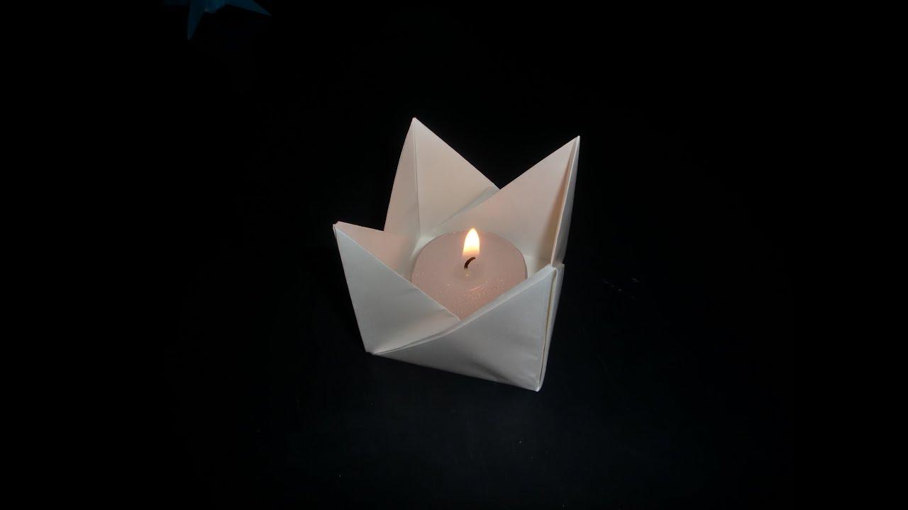 Origami Teelicht Fur Dummies Teacandle Easy