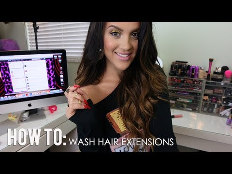 how to wash clip in hair extensions youtube