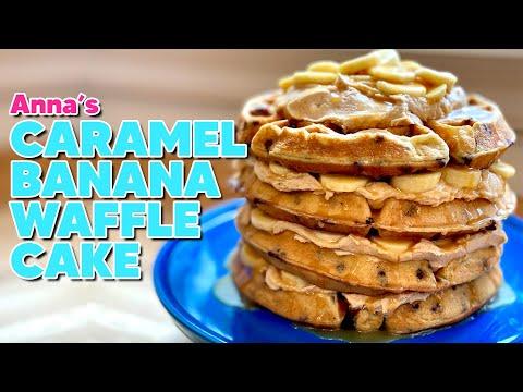 Anna Makes a Caramel Banana WAFFLE CAKE! | ANNA'S OCCASIONS