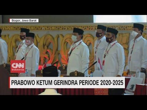 Prabowo Kembali Jadi Ketua Umum Gerindra 2020-2025