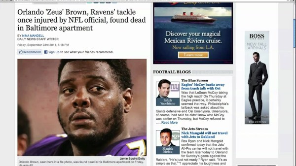 Former NFL Player Found Dead - YouTube