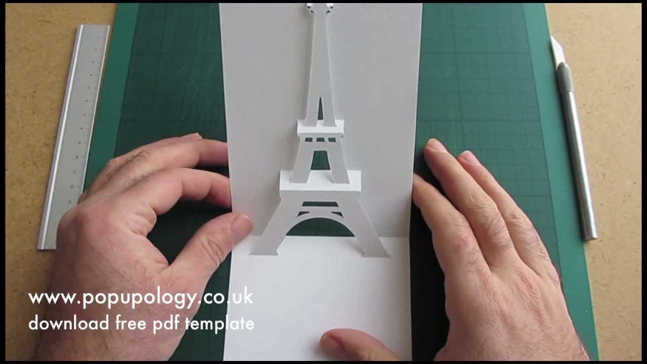 Pop Up Eiffel Tower Card Tutorial Origamic Architecture