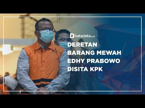 Deretan Barang Mewah Edhy Prabowo Disita KPK   Katadata Indonesia