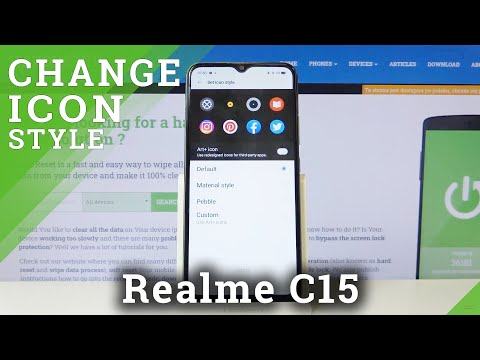 How to Change Icon Style in REALME C15 – Find Icon Settings