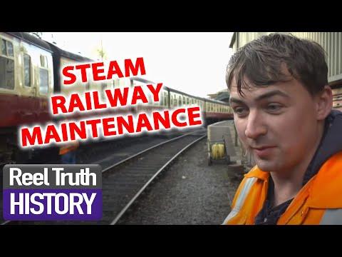 STEAM TRAIN MAINTENANCE | The Yorkshire Steam Railway | Reel Truth History Documentaries