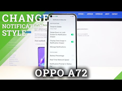 How to Enter Notifications Settings in Oppo A72 - Customize Apps' Alerts