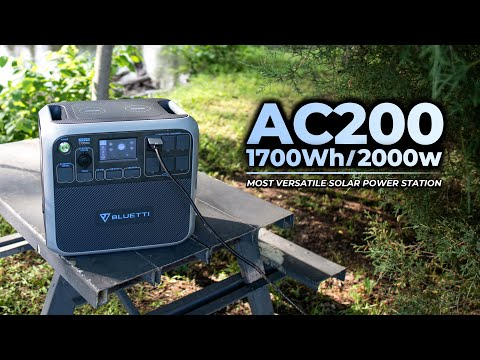 Bluetti AC200 Portable Solar Power Station Offers 2000W for at Home, Outdoor, RV, and Emergency Use. Bluetti, the Green-Alternative for All of Your Power Needs