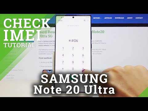 How to Locate IMEI & Serial Number in SAMSUNG Galaxy Note 20 Ultra – IMEI Check