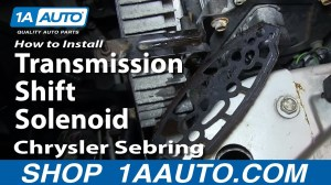 How To Install Replace Transmission Shift Solenoid 200106 Chrysler Sebring  YouTube