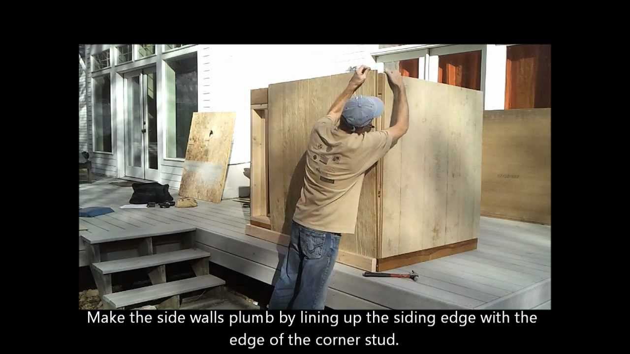 4 Installing Shed Siding How To Build A Generator