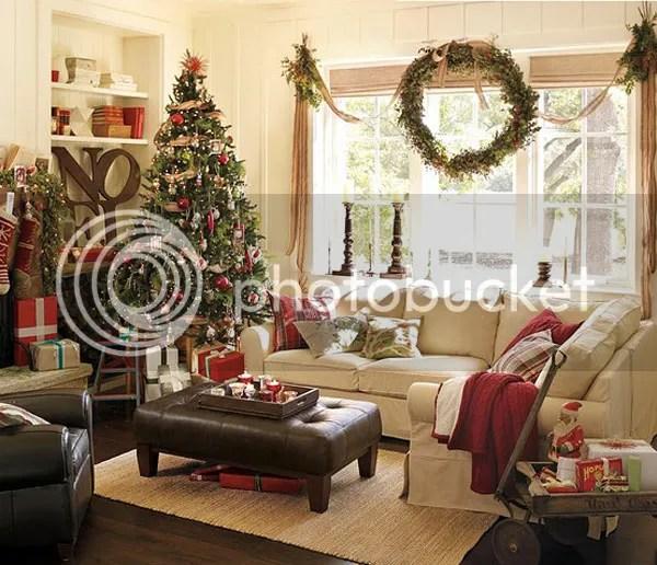 Новогоднее украшение интерьера гостиной в квартире (доме ...