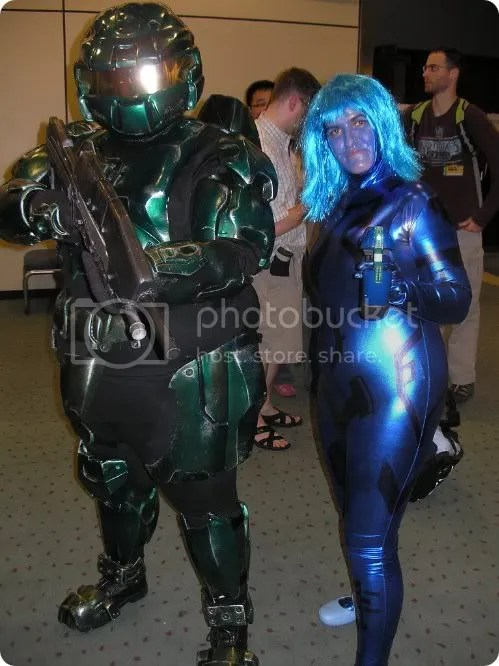 master chief and cortana cosplay