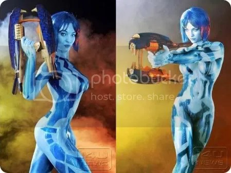 body painted halo 3 cortana