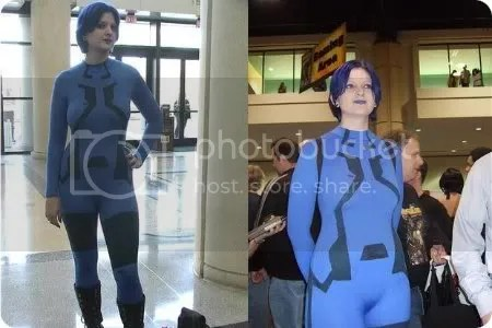 blue cortana cosplay
