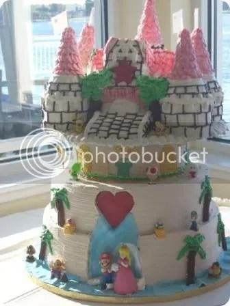 nintendo-themed wedding cake