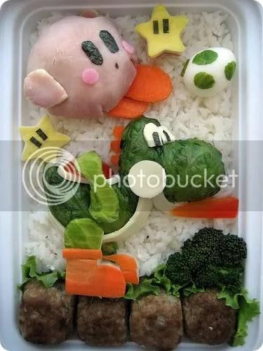Kirby and Yoshi Bento