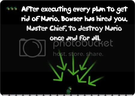 master chief vs. mario game