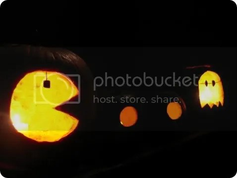 pac-man pumpkins