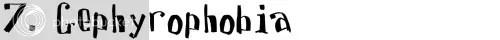 7. Gephyrophobia