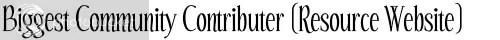 Biggest Community Contributer (Resource Website