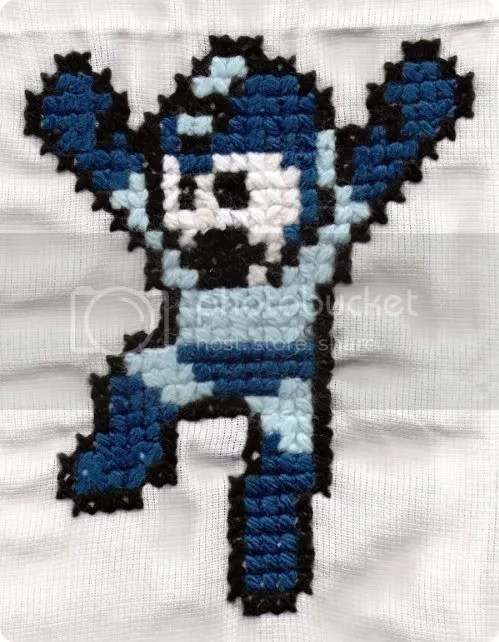 mega man cross-stitch