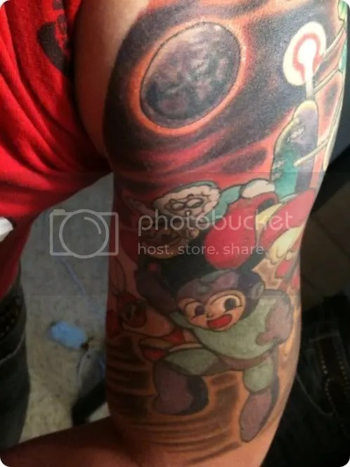 mega man stone tattoo