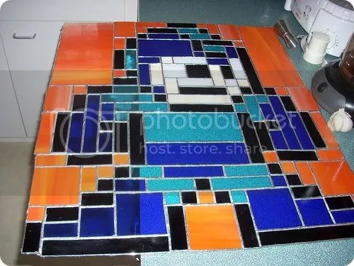mega man stained glass