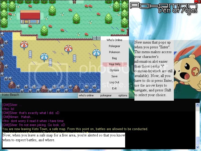 Pokemon: Den of Ages chat
