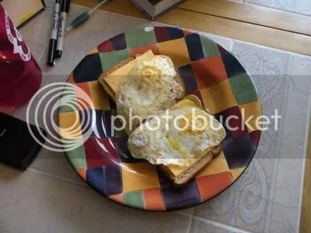 i heart open faced over easy egg sandwiches