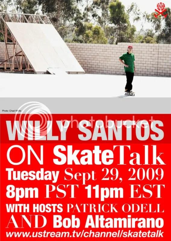 Willy Santos on Skate Talk Live!