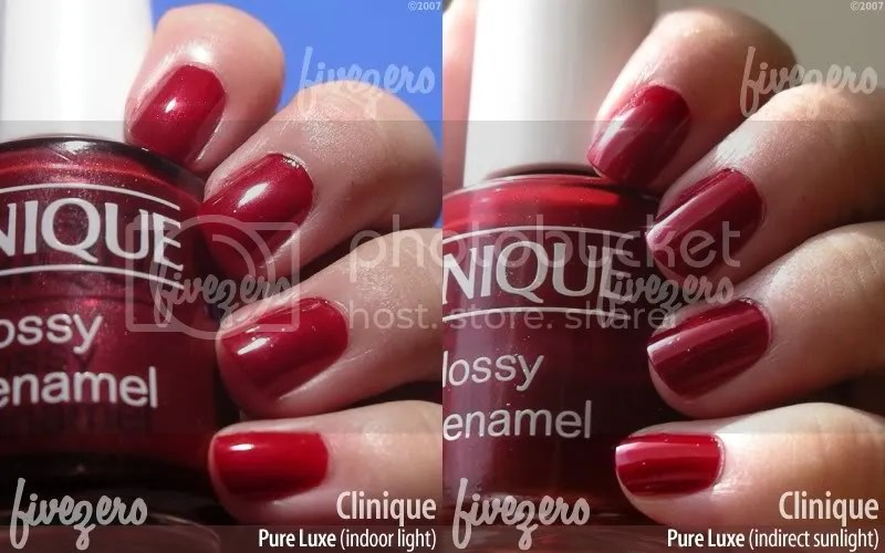 Clinique Nail Enamel in Pure Luxe, swatch