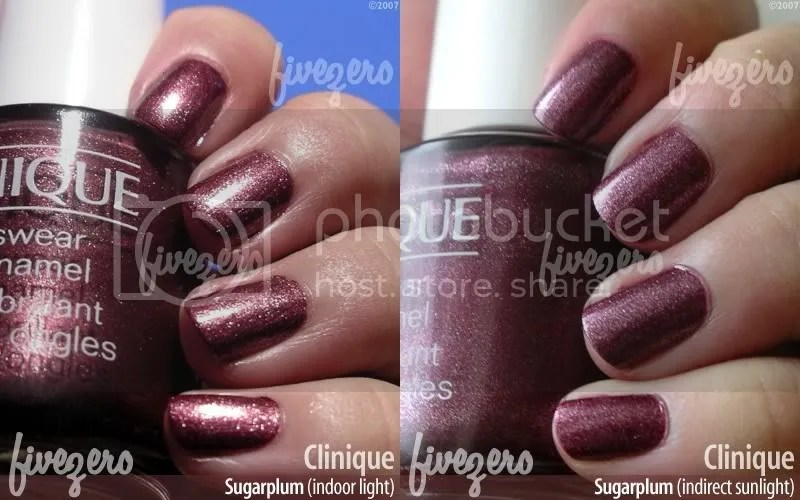 Clinique Nail Enamel in Sugarplum, swatch