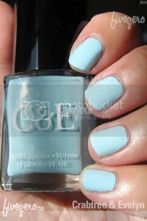 Crabtree and Evelyn Nail Lacquer in Sky, swatch