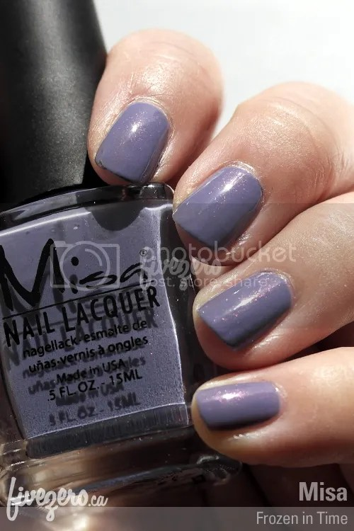 Misa Nail Lacquer in Frozen in Time, swatch